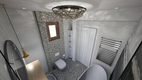 wallpaper in bathroom - Bathroom - by bianca boeriu