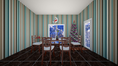 christmas dinning room - by Christmas Designs