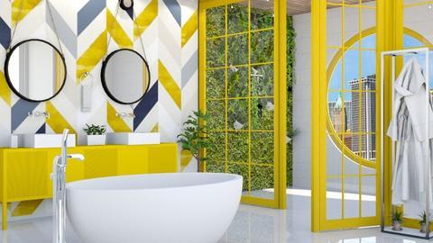 Yellow bath II - by Aymee Estrella