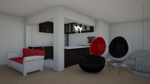 Urban Flat - Modern - Living room - by Siraademented1309
