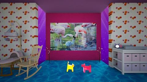 bird pink nursery - Eclectic - Kids room - by Orionaute