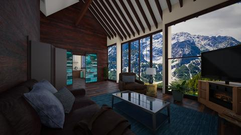 mountain house - Living room - by timeandplace