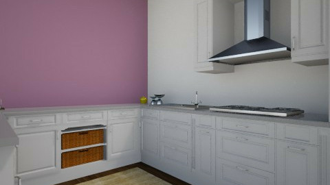 Purple Kithen - Modern - Kitchen - by SnofflesMcwaffles