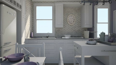 Purple Beige Contest - Kitchen - by lauren_murphy