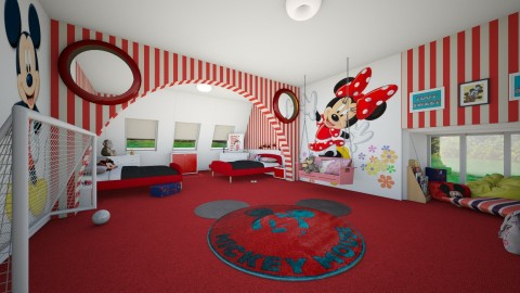 minnie and mickey - Classic - Kids room - by donella