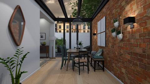 REMIX_Glass and Bricks - Modern - Dining room - by hauser