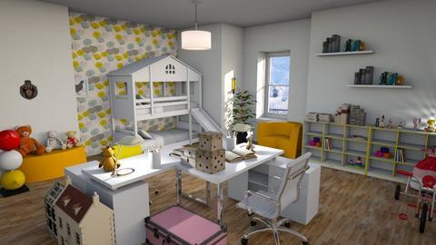 Bunk_bed_Room - Kids room - by ZuzanaDesign