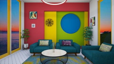 colorful living - Modern - Living room - by zayneb_17