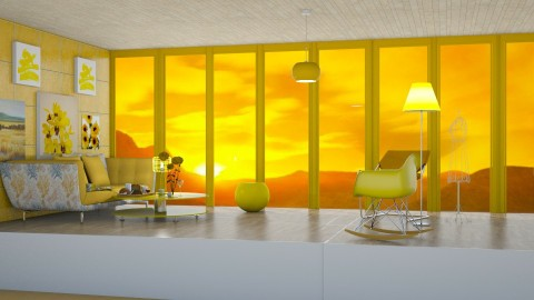 Sunny Yellow - by InteriorDesigner111