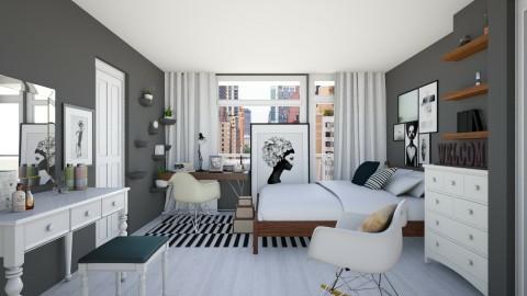 Bedroom redesign 01 - Modern - Bedroom - by Karie Claudio