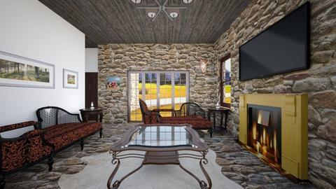 Stone Cottage_Living Room - Living room - by SammyJPili