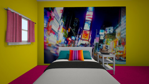 Neon Bedroom - Bedroom - by MyFutureHome