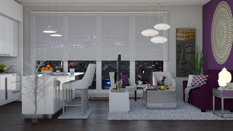 purple - Living room - by Talia Fernanda