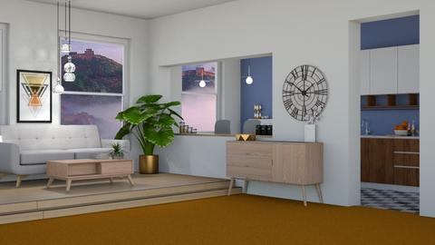 Orange Carpet - Living room - by cutebaxter123