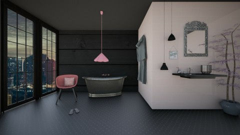 Magnolia Bathroom - Bathroom - by adeldesign