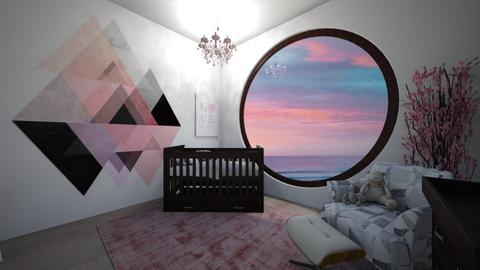 pink nursery - Kids room - by avawrightthewrightone