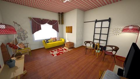 Warm Parlor - Retro - Living room - by KajsaRain