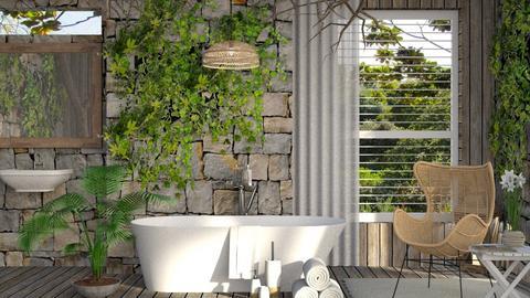 HQ24 Birds Bathing - Bathroom - by HarleyQuinn17