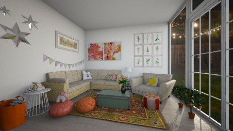 summer living room - Living room - by Kylie Gallant