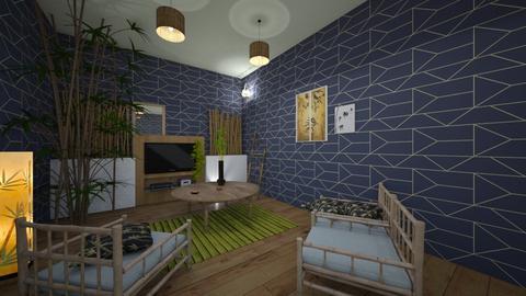 bamboo lounge room  - Living room - by Natasha W