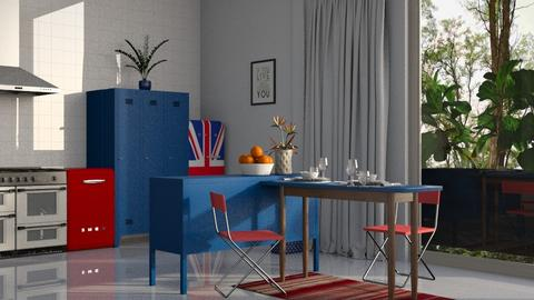 red and blue paradise - Kitchen - by BortikZemec