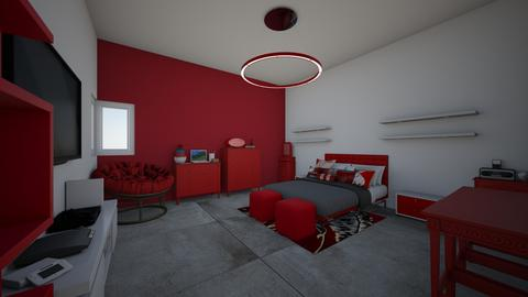 red an white my dream - Modern - Bedroom - by jade1111