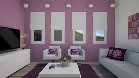 Roxo - Living room - by Joana Sousa