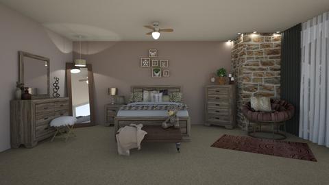 Leopard Stone Room - Bedroom - by creato