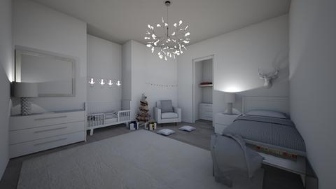two children bedroom - Glamour - Bedroom - by joetee
