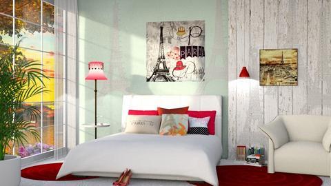 M_ Paris - Bedroom - by milyca8