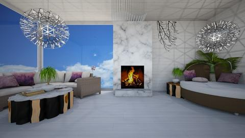 Condo for 2 - Modern - Living room - by Iridescent Designs