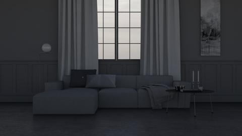 Grey - Minimal - Living room - by HenkRetro1960