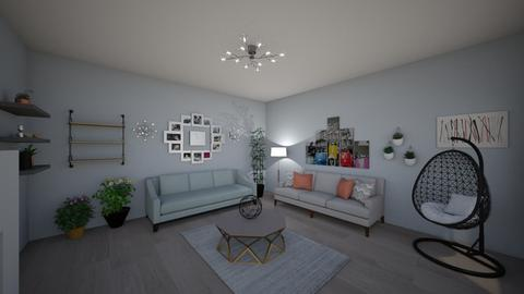 living room design - Living room - by karrellvallecer04