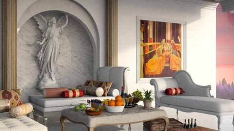 Triclinium II - Glamour - Dining room - by elephant in savanna