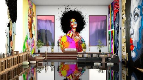 African pop art - Modern - Living room - by InteriorDesigner111
