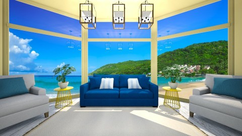 happy beach resort - Minimal - Living room - by newyork4everloved