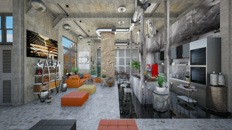 industrial home - Eclectic - Living room - by Ida Dzanovic