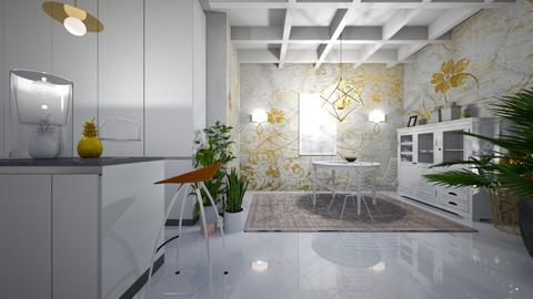 white - Kitchen - by ana111