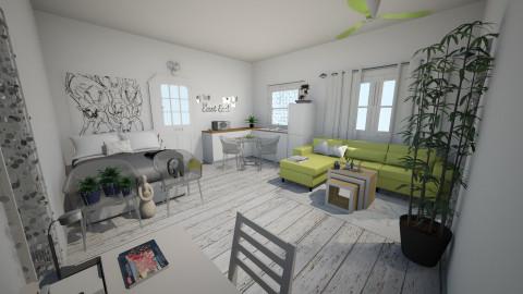 One Day - Minimal - Bedroom - by Yasmine Rocha