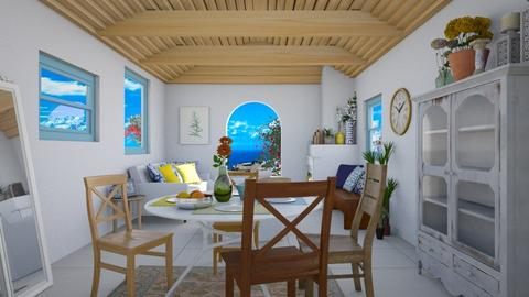 greek home - Dining room - by clairelist07