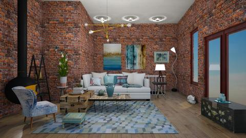 eclectic blue loft - by shistyle