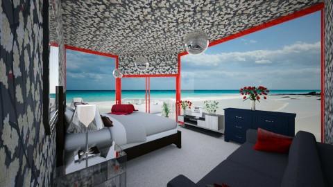 BeachHotel - Modern - Bedroom - by lori gilluly