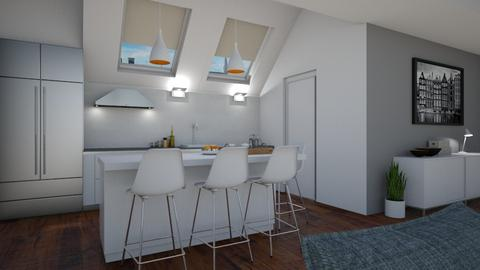 Open concept - Kitchen - by Tuitsi