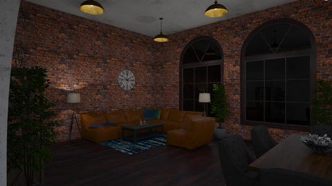 industrial  - Living room - by ngoetzinger