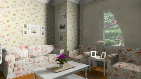 Grandmother livingroom - Feminine - Living room - by Cejovic Andrijana