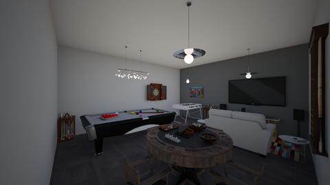 IndoorModernFamiGameRoom - Modern - Living room - by jade1111