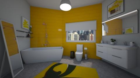Yellow Bathroom - Modern - Bathroom - by lexilav