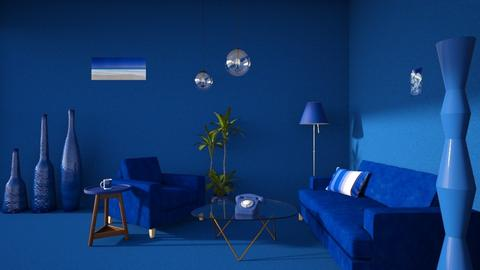 Blue - Living room - by Louise Hedlund