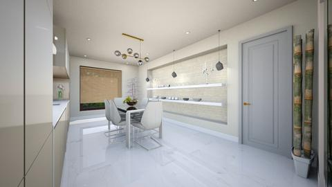 light crem kitchen - Glamour - Kitchen - by Bianca Interior Design