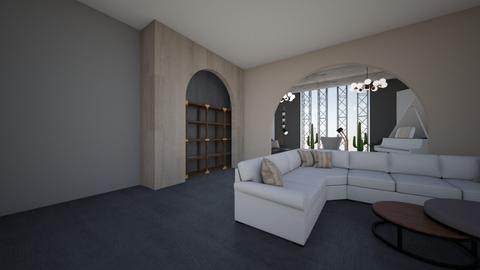 RH Modern - Living room - by MariaMunoz